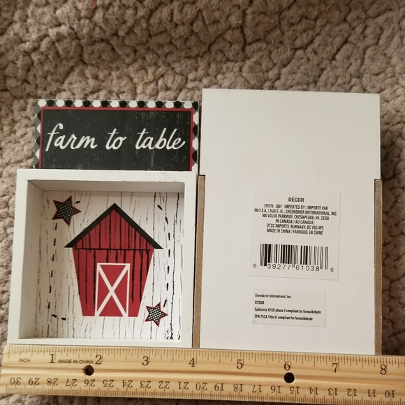 Set of 2 Farm to table small frames.